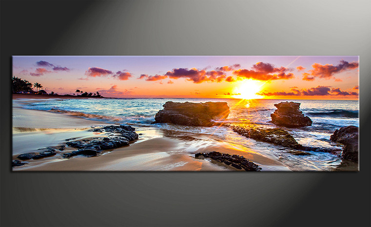 1 piece canvas wall art, blue ocean pictures, home decor, ocean wall art