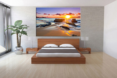 1 piece canvas print, bedroom canvas wall art, ocean pictures, ocean canvas photography, ocean art