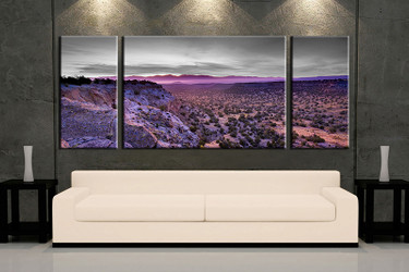 living room art, 3 piece canvas wall art, landscape decor, landscape artwork, landscape large canvas
