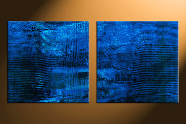 2 piece canvas photography, home decor art, blue abstract canvas wall art , oil paintings abstract huge pictures