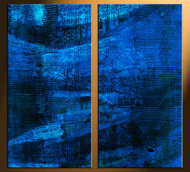 2 piece canvas photography, home decor art, blue abstract huge pictures, oil paintings abstract wall decor