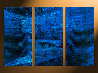 3 piece large pictures, home decor wall art, oil paintings abstract canvas photography, blue abstract decor