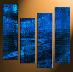 4 piece canvas photography, home decor art, abstract oil paintings huge pictures, blue abstract wall decor