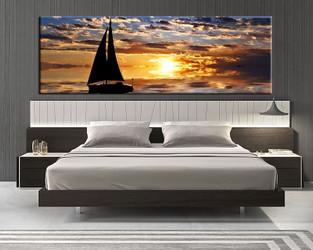 1 piece canvas wall art, ocean wall art, ocean multi panel canvas, ocean artwork