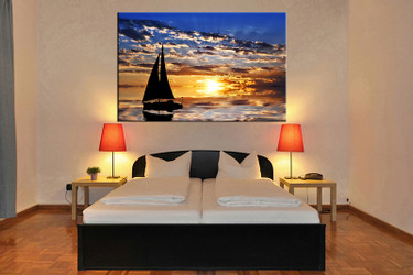 1 piece canvas art print, bedroom art, ocean multi panel art, ocean huge pictures, ocean artwork
