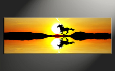 1 piece canvas wall art, wildlife wildlife pictures, home decor, horse wall art