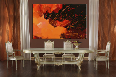 1 piece canvas wall, abstract art, dining room pictures, abstract large pictures, orange abstract artwork