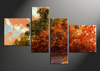 4 piece large pictures, home decor wall art, scenery canvas photography, oil paintings scenery décor