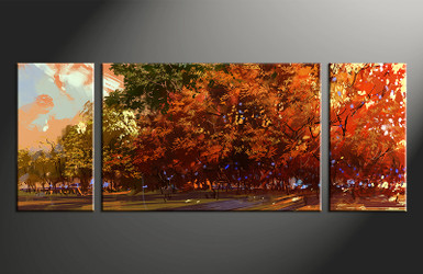 home decor,3 piece canvas, orange scenery wall art, scenery canvas photography, scenery huge pictures