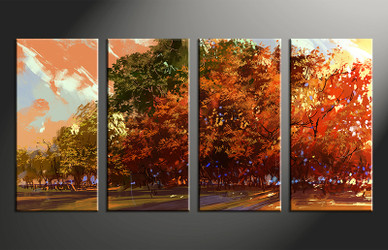 4 piece large canvas, home decor artwork, scenery large pictures, scenery art