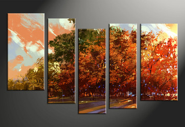 5 piece photo canvas, home decor artwork, scenery  multi panel canvas, scenery canvas photography