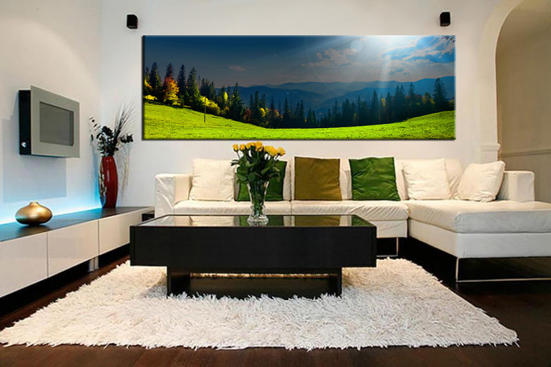 1 Piece Huge Pictures, Living Room Wall Art, Scenery Canvas Art Prints,  Scenery