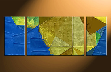 3 piece large canvas, home decor blue artwork, abstract large pictures, oil paintings art