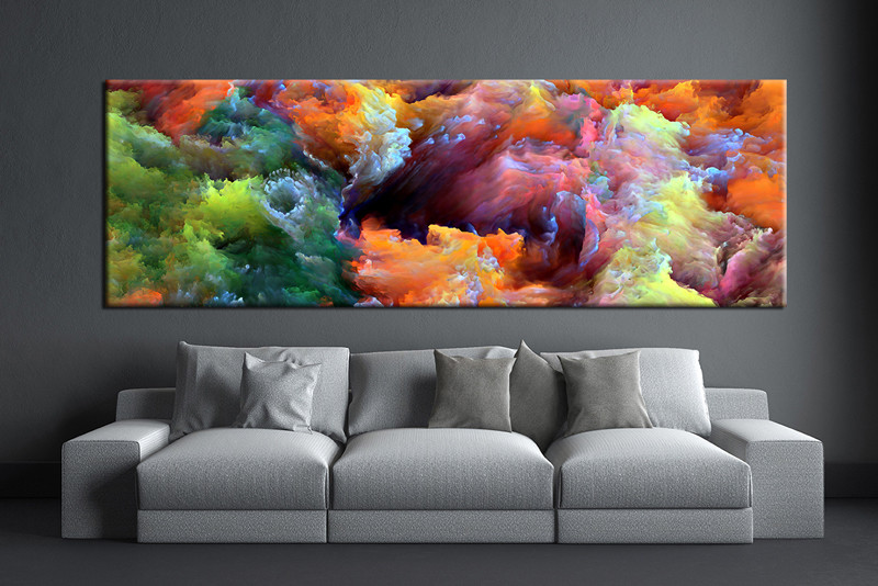 1 Piece Colorful Artwork Abstract Photo Canvas,Abstract Wall Art,Large  Abstract Art