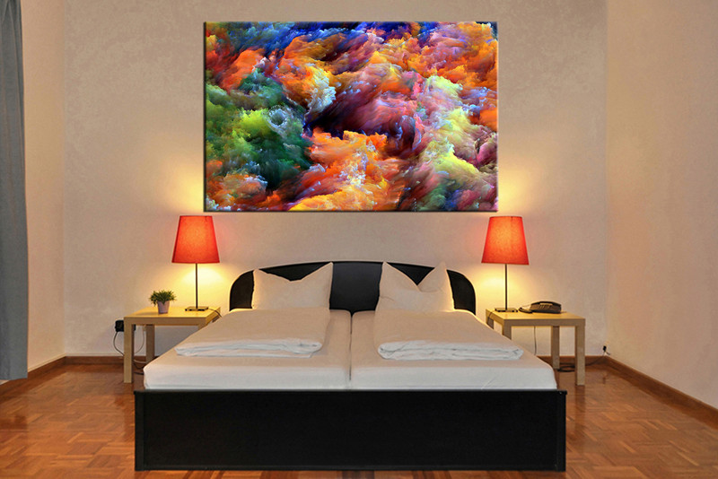 1 Piece Colorful Artwork Abstract Canvas Wall Art,Abstract Wall Art,Large  Abstract Art