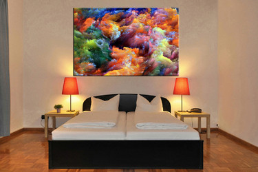 bedroom decor, 1 piece wall art, abstract colorful pictures, abstract art, abstract large pictures, abstract artwork