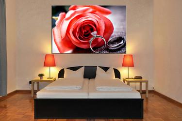 bedroom decor,1 piece canvas wall art, floral wall art, floral canvas prints, floral canvas photography