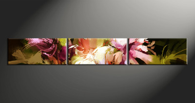 3 piece canvas wall art, floral floral pictures, home decor, floral wall art. flower oil paintings