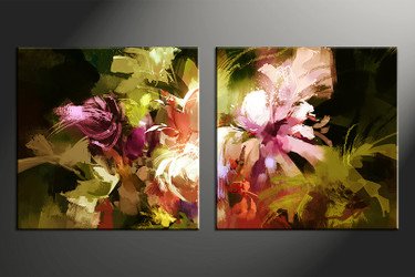 2 piece canvas photography, oil paintings home decor art, floral huge pictures, floral wall decor