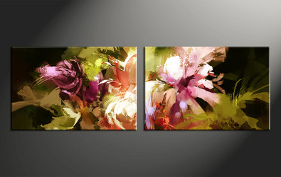 2 piece canvas photography, home decor art, floral huge pictures, oil paintings floral wall decor