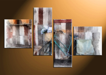 4 piece canvas wall art, home decor art, modern photo canvas, modern pictures, modern huge pictures