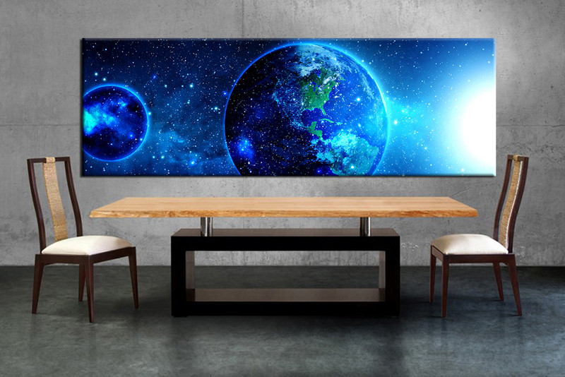 1 Piece Blue Pictures Modern Huge Canvas Art