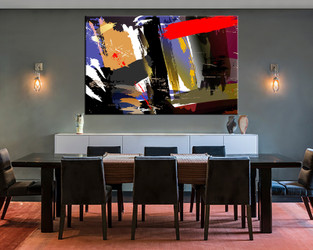 1 piece multi panel art, dining room canvas photography, colorful abstract wall art, abstract large pictures