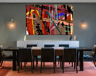 dining room decor, 1 piece wall art, abstract pictures, colorful abstract wall decor, abstract canvas photography