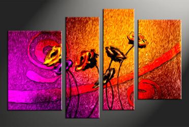 4 piece canvas art, floral home decor artwork, floral photo canvas, floral canvas photography