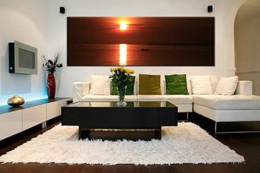 1 piece wall art,  ocean artwork, red ocean artwork, ocean huge large pictures, living room photo canvas