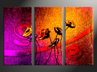 3 piece canvas photography, floral home decor art, floral huge pictures, floral wall decor