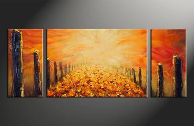 3 piece canvas wall art, home decor artwork, modern oil paintings photo canvas, orange modern canvas photography