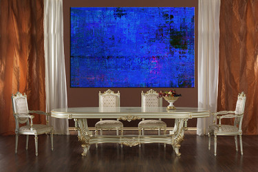 1 piece canvas wall, abstract art, dining room pictures, abstract large pictures, blue abstract artwork