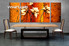 3 piece large canvas, flower dining room artwork, oil paintings floral canvas wall art, floral group canvas, floral photo canvas