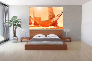 bedroom wall art, 1 piece multi panel art, orange abstract wall art, abstract artwork, abstract artwork