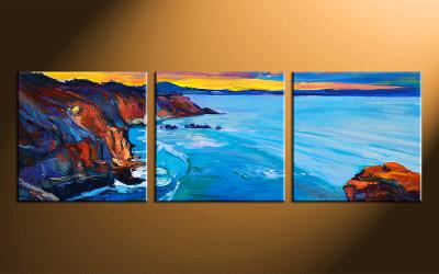 3 piece photo canvas, ocean home decor artwork, ocean multi panel canvas, oil paintings ocean canvas photography