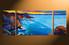 3 piece large canvas, home decor artwork, blue ocean large pictures, oil paintings ocean art