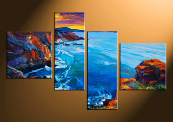 home decor,4 piece canvas print, ocean wall art, ocean canvas photography, oil paintings ocean huge pictures