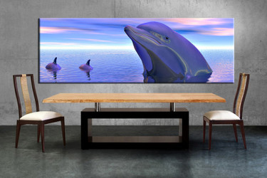 1 piece canvas wall, wildlife art, dining room pictures, wildlife large pictures, dolphin wildlife artwork