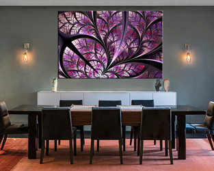 1 piece large canvas, dining room wall art, purple modern pictures, modern canvas photography