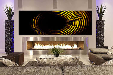 1 piece wall art, living room large canvas, yellow modern huge pictures, modern canvas wall art