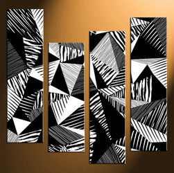 4 piece large pictures, home decor wall art, black and white canvas photography, oil paintings abstract decor