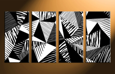4 piece canvas wall art, home decor art, abstract canvas photography, oil paintings pictures, black and white huge pictures