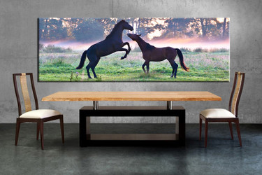 1 piece large pictures, dining room wall decor, wildlife group canvas, wildlife artwork, wildlife wall art