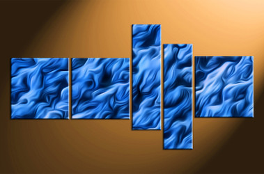 5 piece canvas wall art, blue  abstract abstract pictures, home decor, oil paintings abstract wall art