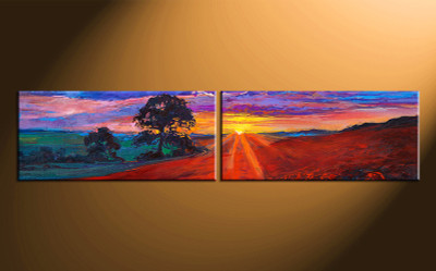 2 piece photo canvas, home decor artwork, scenery  multi panel canvas, oil paintings scenery canvas photography