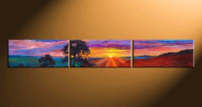 3 piece canvas art, home decor artwork, sunrise scenery photo canvas, oil paintings scenery canvas photography