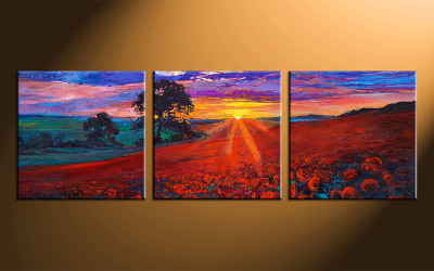 home decor,3 piece canvas art,  sunrise scenery photo canvas, scenery canvas photography, oil paintings scenery large pictures