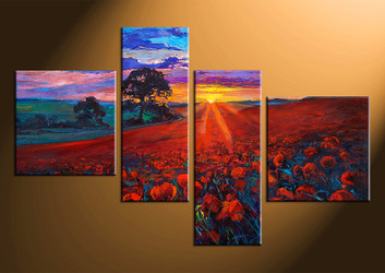 4 piece canvas photography, home decor art, colorful scenery huge pictures, oil paintings scenery wall decor