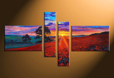 4 piece canvas art, home decor artwork, scenery photo canvas, oil paintings scenery canvas photography